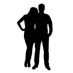 silhouette people stand