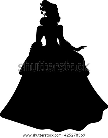 silhouette  princess  vector