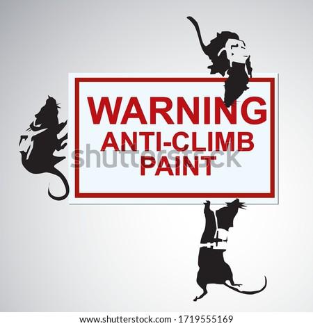 silhouette rats street art