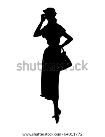 Silhouette 11 - Retro Clipart Illustration