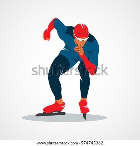 silhouette speed skaters