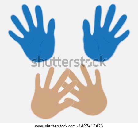 Silhouette symbol of domestic violence. Domestic violence.