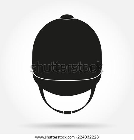 silhouette symbol of  jockey