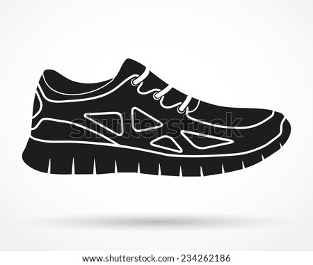 silhouette symbol of shoes