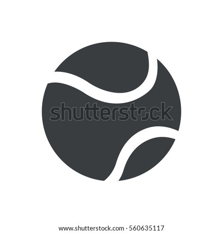 silhouette tennis ball sport icon vector illustration eps 10