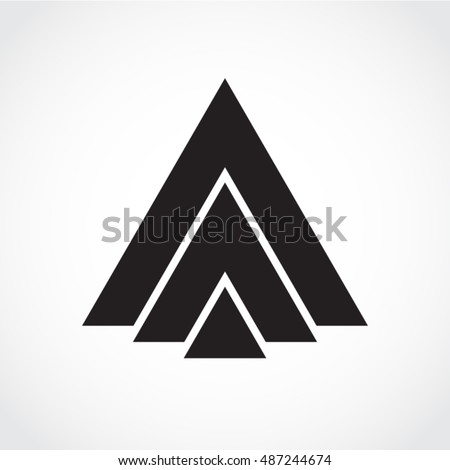 silhouette triangle shape