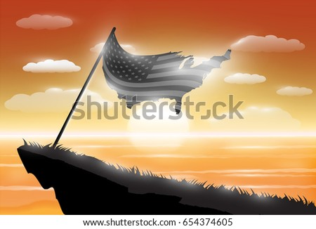 silhouette united states of