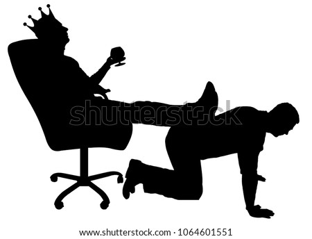 silhouette vector of a selfish