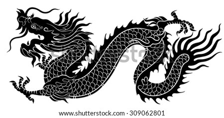 silhouette vector of chinese