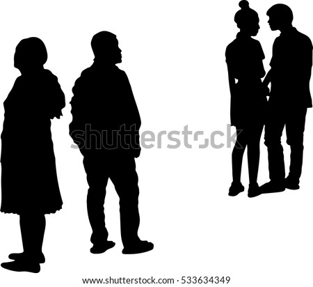 silhouette vector of couple