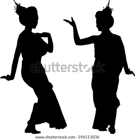 silhouette vector of thailand