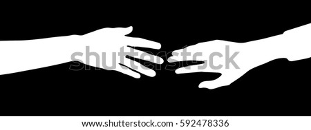 silhouette vector of two arms