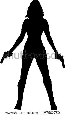 silhouette warrior woman