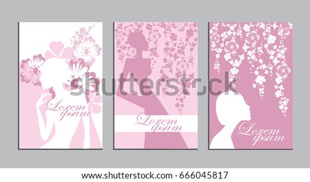 silhouette women and flowers