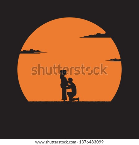 silhouette young man kissing