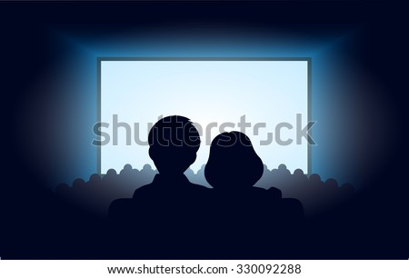 silhouettes a loving couple at