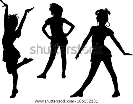silhouettes enjoy girls