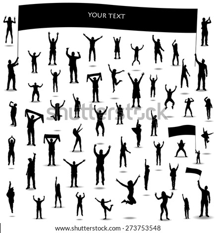 Silhouettes for sports championships and concerts