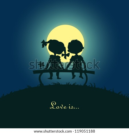 silhouettes of a boy and a girl