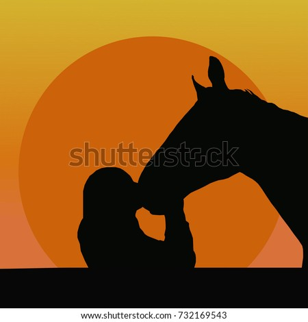 silhouettes of a girl kissing a