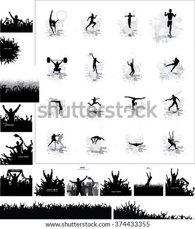silhouettes of athletes and