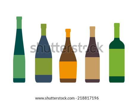 silhouettes of bottles on a