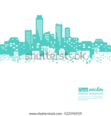 stock-vector-silhouettes-of-buildings-urban-cityscape-vector-illustration