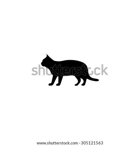 silhouettes of cat black