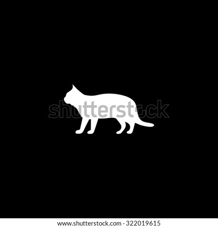 silhouettes of cat simple flat