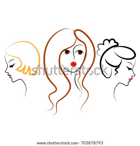 silhouettes of cute ladies in