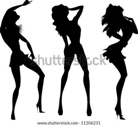 silhouettes of dancing girls 9