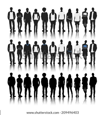 silhouettes of diverse people