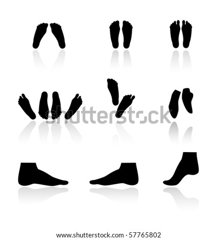 Silhouettes of foot