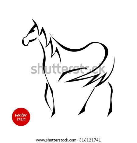 silhouettes of horse with