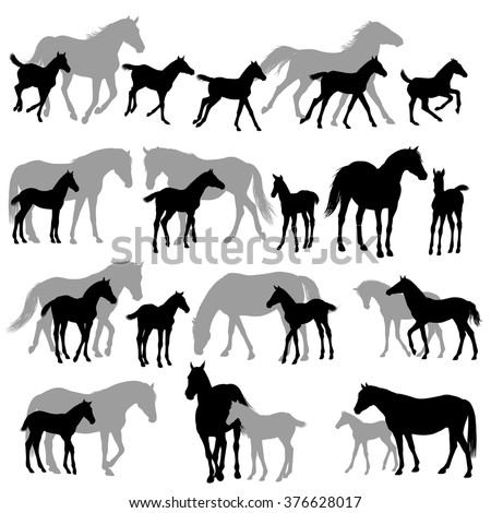 Horse silhouette clip art graphics download free vector for Clipart mare