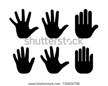 stock-vector-silhouettes-of-human-open-palm-vector-set-isolated-on-white-background