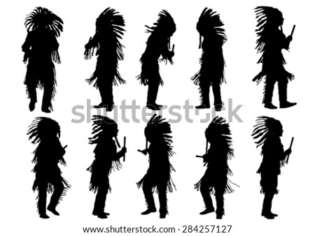 silhouettes of indian musical