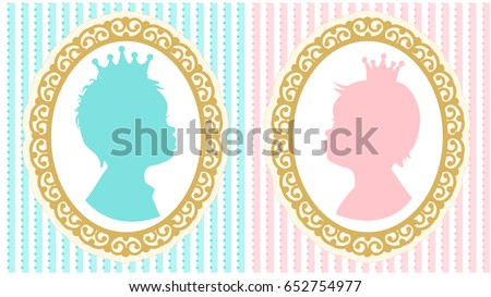 silhouettes of little princess