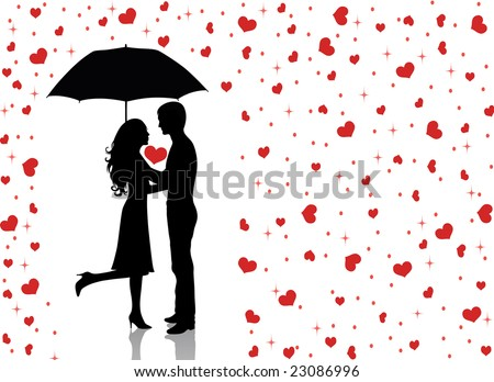 Man And Woman Under Umbrella Silhouette Silhouettes of Man And Woman