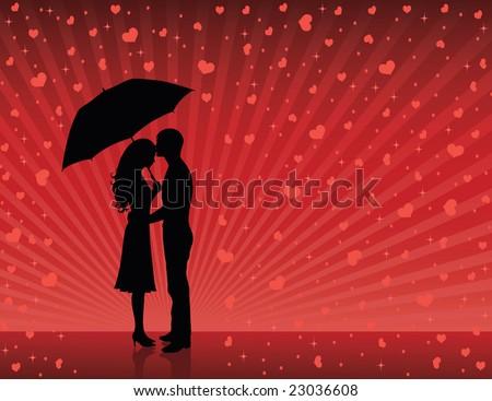 Man Woman Umbrella Woman Holding an Umbrella