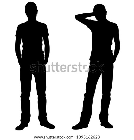 silhouettes of men in relaxed positions