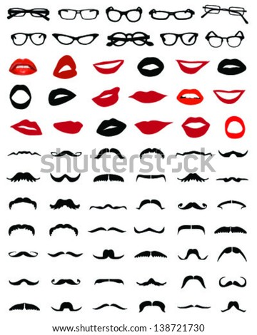 silhouettes of mustaches