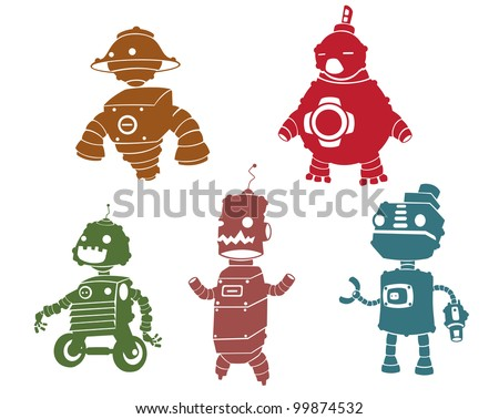 Silhouettes of robot