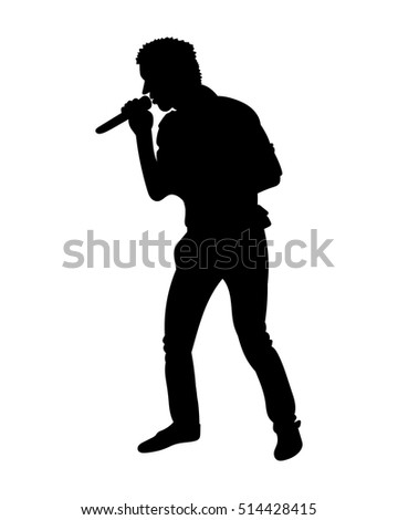 silhouettes of showman singer