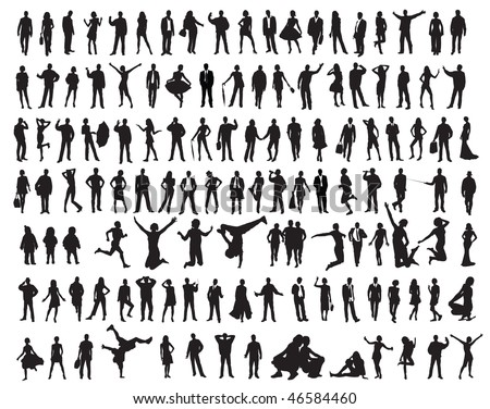 silhouettes of the people
