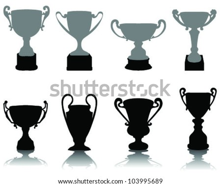 Silhouettes of trophies-vector