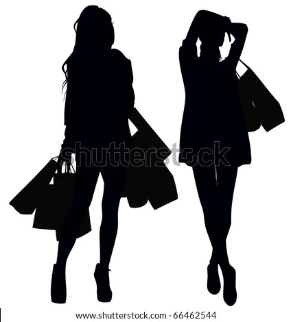 Shutterstock Silhouettes of two girls
