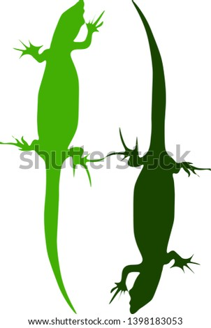silhouettes of two identical