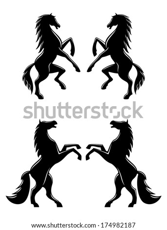 silhouettes of two pairs of
