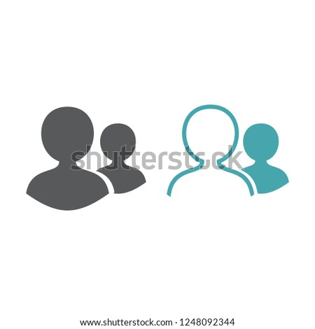 silhouettes of two people set